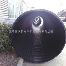 大口径钢带波纹排污管_钢带增强螺旋波纹管