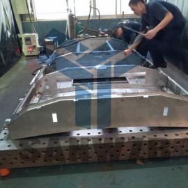空调组对焊接工装夹具,空调焊接组对工装,地铁部件焊接工装