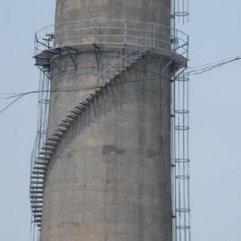 烟囱安装环保部门登高检测旋转楼梯安装烟囱环保烟气监测平台