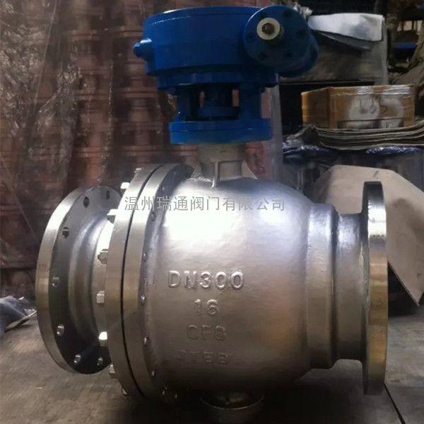 dn300不锈钢固定球阀q347f图片