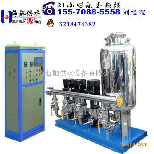 保山变频供水增压泵由智能型变频控制柜,稳流罐,水泵机组,仪表,阀门及图片
