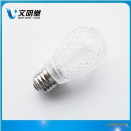 S14草莓球泡灯,LED装饰灯,E27球泡灯,跑马灯,LED彩灯