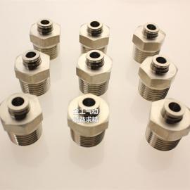 不锈钢G螺纹直通接头PC14-02/PC14-03不锈钢螺纹直通快插接头