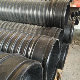 HDPE钢带增强螺旋波纹管_排水排污管