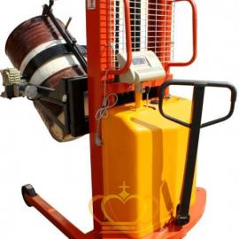 亚津FCS半电动油桶堆高车秤 350KG超稳定倒桶秤