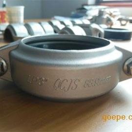 正品现货供应304卡箍抱箍 DN80挠性沟槽管道卡箍