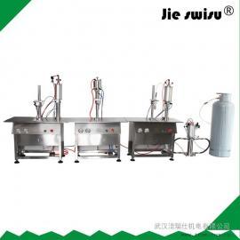 武汉半自动气雾剂灌装机 杀虫气雾剂灌装机