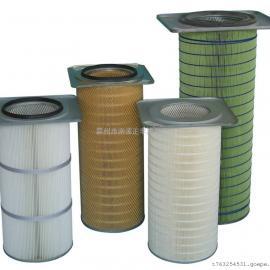 除尘滤芯 聚酯阻燃滤筒/替代进口唐纳森抗阻燃滤筒
