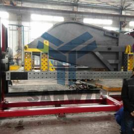 环卫车组对焊接工装夹具,环卫车变位机柔性组对焊接工装夹具
