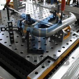 法兰管件柔性焊接工装夹具,天燃气管件焊接工装夹具,管道夹具