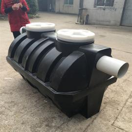 济南1立方小型家用新型化粪池PE成品三格化粪池1吨卧式水箱