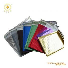 直销彩色镀铝膜复合气泡袋邮政快递包装袋