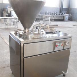 供应诸城华钢牌30L液压灌肠机,不锈钢液压灌肠机