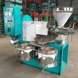 不锈钢商用螺旋榨油机/菜籽花生125型榨油机成套设备