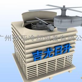 冷却塔节能改造吉尤日升国标150T新型玻璃钢冷却塔节电