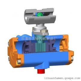 浙江不锈钢304一片式双作用气动(电动)球阀1PC-6