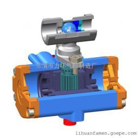 浙江不锈钢304一片式双作用气动(电动)球阀1PC-10