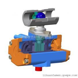 浙江不锈钢304一片式双作用气动(电动)球阀1PC-15