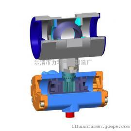 浙江不锈钢304一片式双作用气动(电动)球阀1PC-40