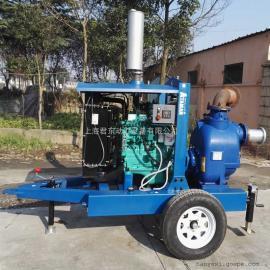 6寸移动柴油机强力排污泵柴油机移动泵车