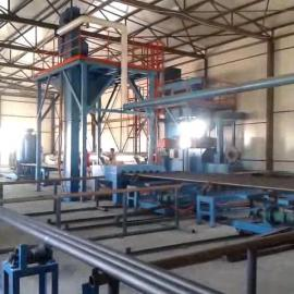 钢管扩管前喷砂清理设备,钢管内外壁喷砂丸机,钢管喷丸机。