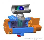 浙江不锈钢304一片式单作用气动(电动)球阀1PC-6