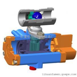 浙江不锈钢304一片式单作用气动(电动)球阀1PC-20