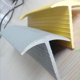 地面缝隙黄色T型橡塑条地沟盖板PVC密封条