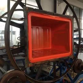 杭州耐酸碱塑料方箱推布车布草车厂家直销