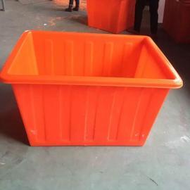 滁州滚塑一次成型PE塑料方箱耐强压牛筋桶布草车