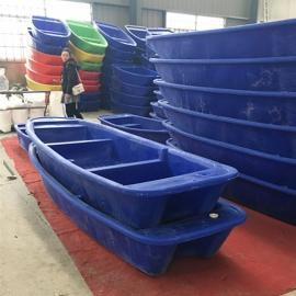 萍乡养殖户专用小型塑料渔船一次成型滚塑打渔船PE材质
