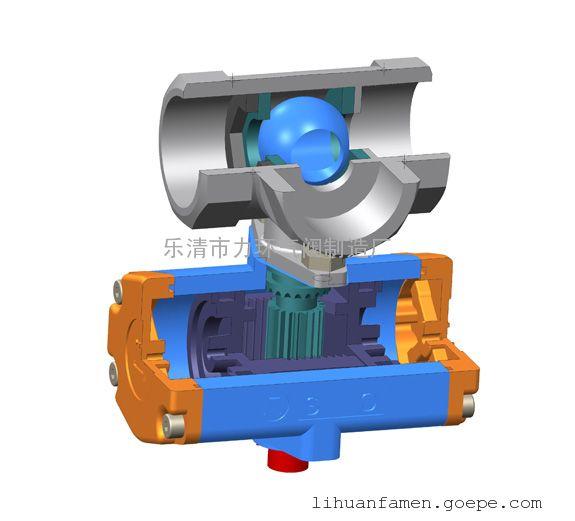 浙江不锈钢304一片式双作用三通L型气动(电动)球阀1PC-25