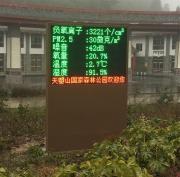 景区负氧离子及PM2.5监测显示屏
