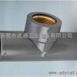 UPVC塑料管件三通 日标 SLG厂家直销 内牙三通