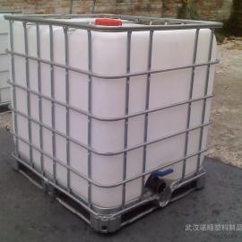 武汉供应1吨耐酸碱桶 1000L方形塑料桶