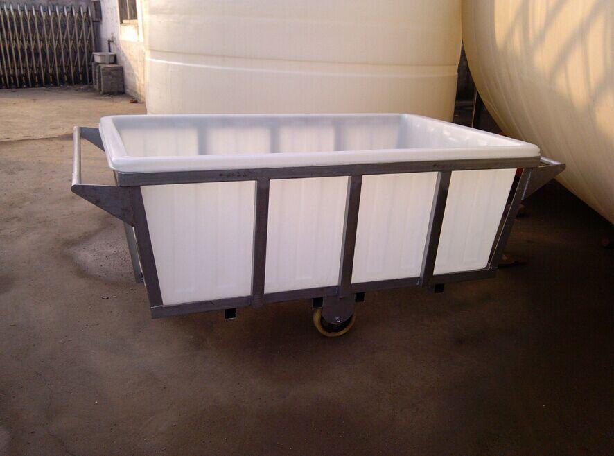 直销绍兴K1200L方型白色水箱加厚水产养殖周转箱