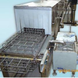 链网通过式铝合金压铸件除油除腊超声波喷淋清洗机