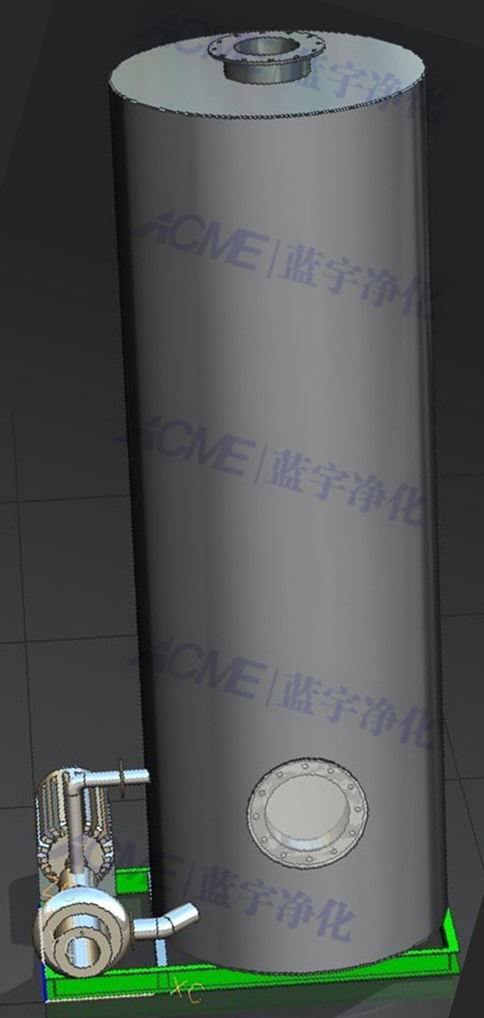 专业订制水喷淋脱尘脱硫净化系统 喷淋净化器 脱硫塔 喷淋塔