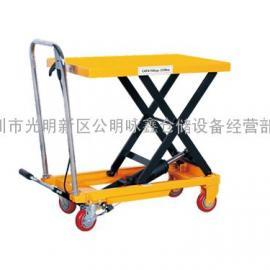 500公斤900MM手推脚踏平台车