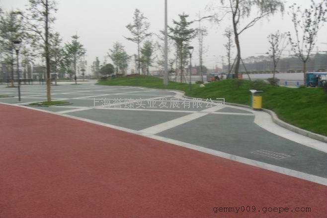 批发YZ01型公园彩色透水混凝土道路胶凝剂