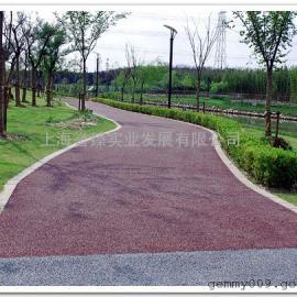 批发公园用环保透水地坪休闲道路用红色透水混凝土铺装更佳