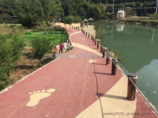 RED金华河道红色透水混凝土施工无沙透水地坪胶凝剂批发