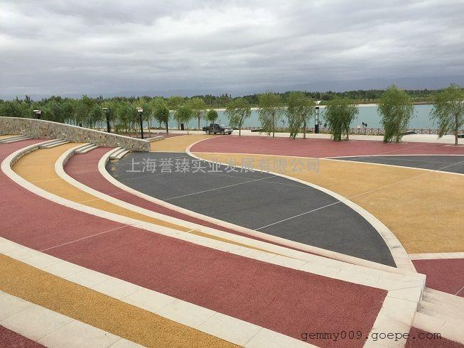 LS丽水彩色路面施工缙云多彩透水混凝土价格云和透水地坪