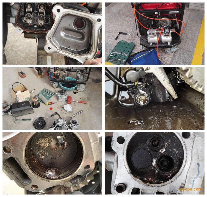 排气门断,排气门头损坏发动机缸头,发动机活塞坏,维修发电机,需要人工