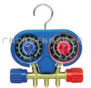 美国罗宾耐尔Robinair 45111两路铜制冷媒压力表 空调压力表组