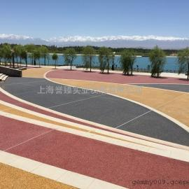 多彩透水混凝土-与周边环境完美搭配-透水地坪面层胶凝剂批发