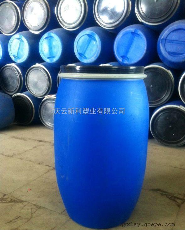 125L法兰塑料桶,125升包箍塑料桶,125公斤化工桶