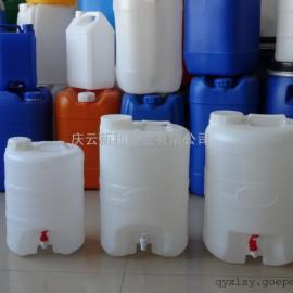 庆云新利带水嘴25升塑料桶,带阀门25公斤塑料桶