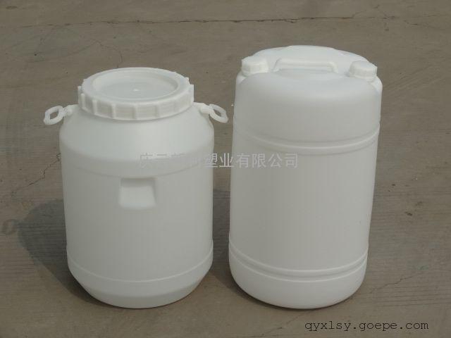 庆云50KG圆塑料桶,50公斤大口圆桶,50L大口塑料桶