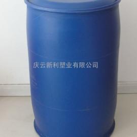 100L双环塑料桶,100升闭口蓝桶,100公斤小口塑料桶